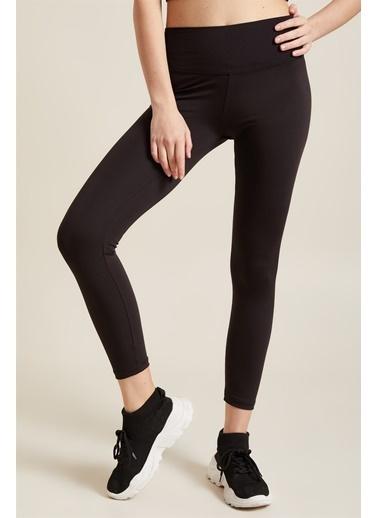 Z Giyim Yüksek Bel Toparlayıcı Sporcu Tayt Siyah